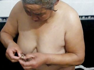 Chinese granny in the bath