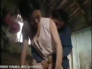 My promiscuous Chinese Wife White and a shaved young guy