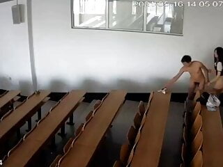 Chinese university classroom fuck