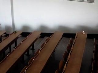 The ladder classroom of Heike University monitors