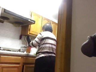 Chinese Granny Morning Flash
