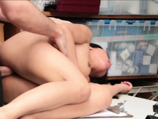 Banging Nubile Teen Thief On His Table