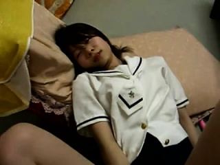 Asian girlfriend fingering her snatch pov