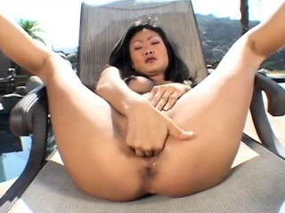 Amateur American Chinese teacher masturbation